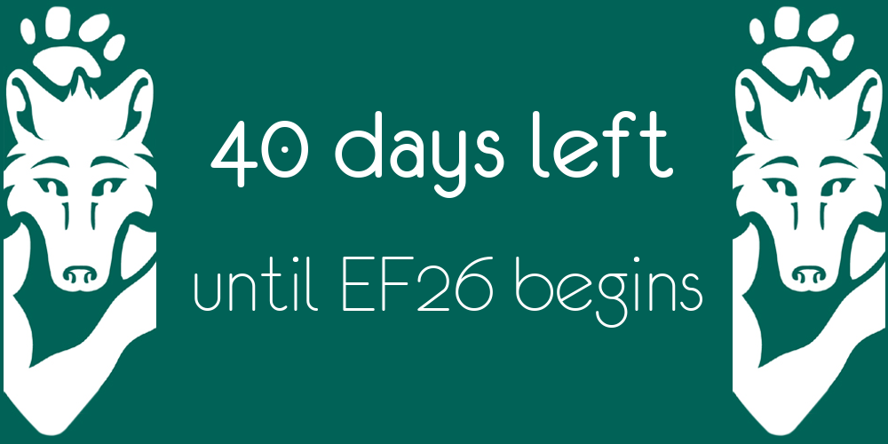 Green Eurofurence Banner image displaying days until next EF